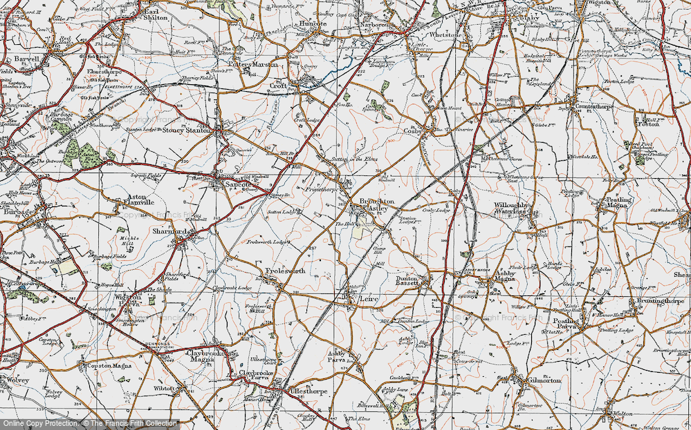 Old Map of Broughton Astley, 1920 in 1920