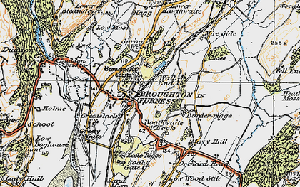 Old map of Broughton in Furness in 1925