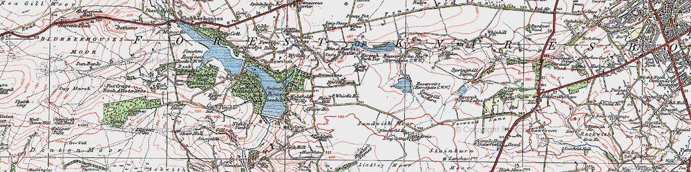 Old map of Whistle Ho in 1925