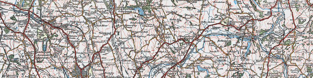 Old map of Brown Edge in 1921