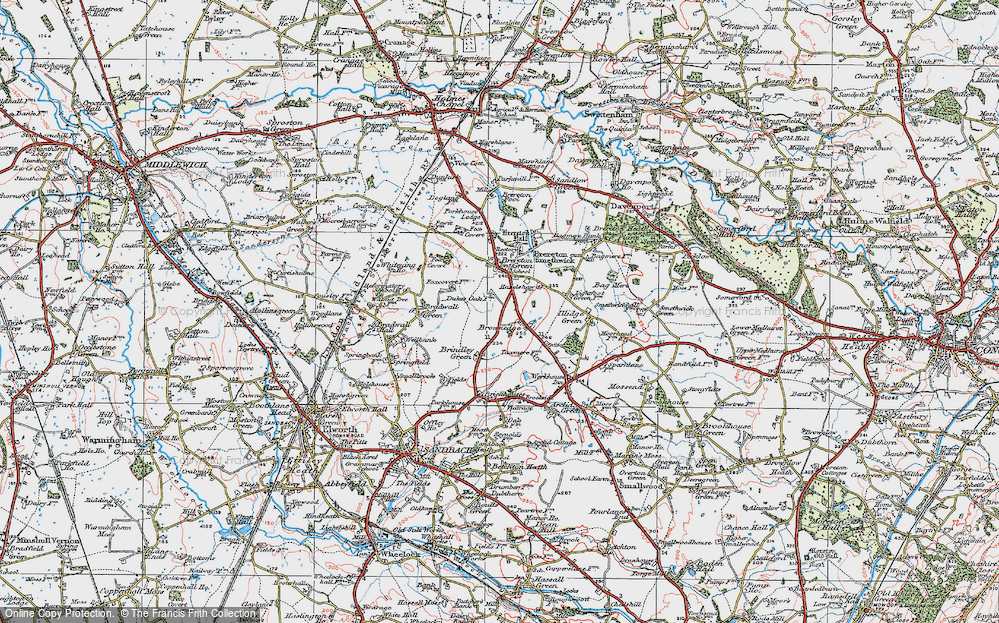 Old Map of Brownedge, 1923 in 1923