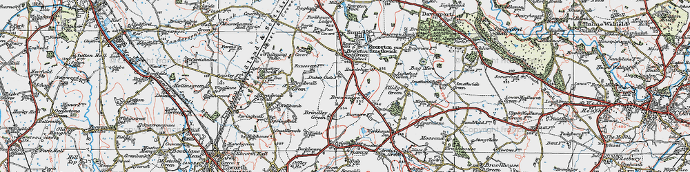 Old map of Brownedge in 1923