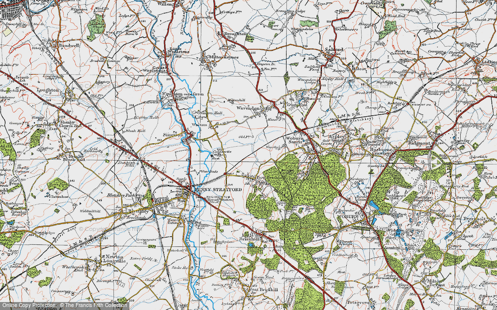 Old Map of Browns Wood, 1919 in 1919