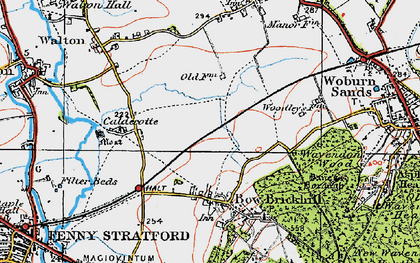 Old map of Browns Wood in 1919