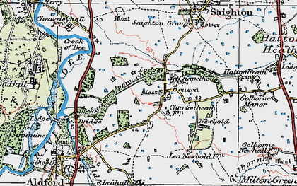 Old map of Crook of Dee in 1924
