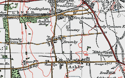 Old map of Brumby in 1923