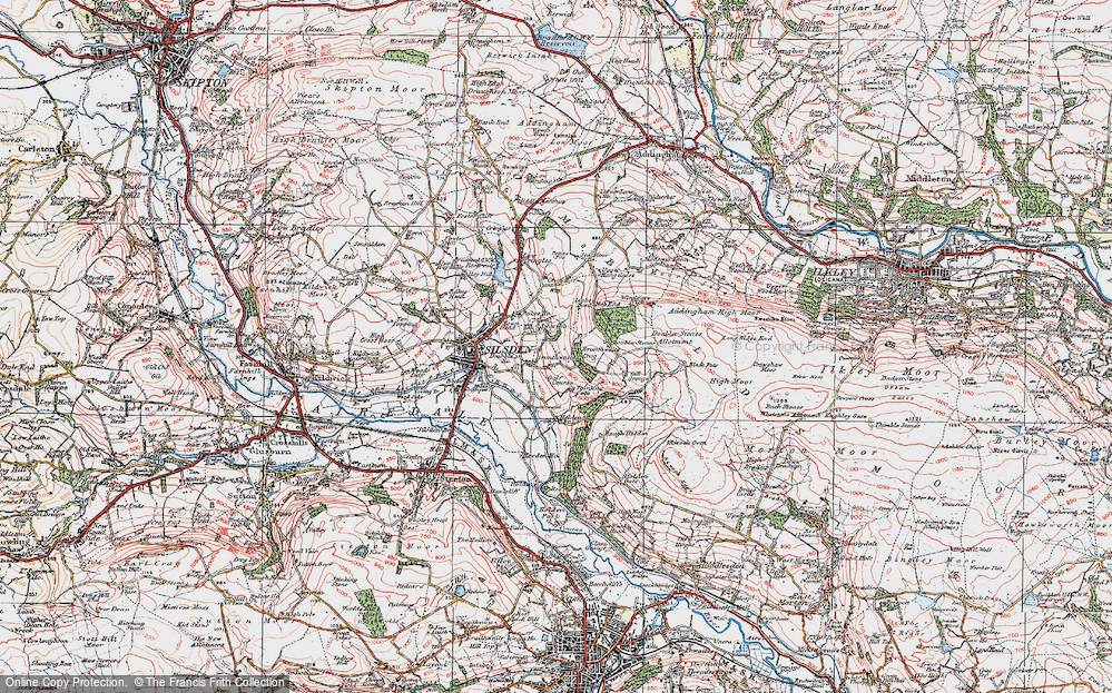 Old Map of Historic Map covering Alder Carr Wood in 1925