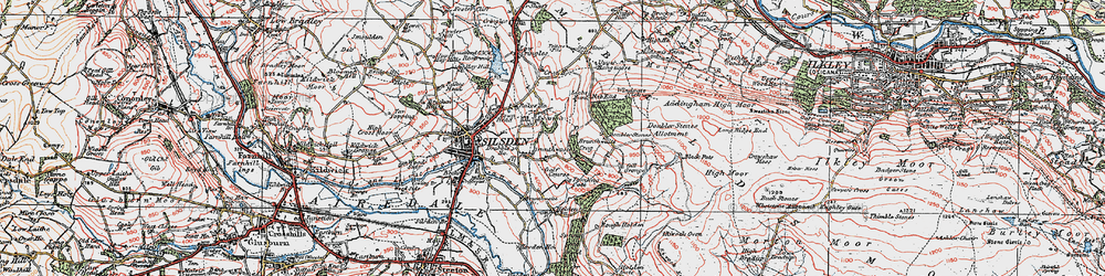 Old map of White Crag Plantn in 1925
