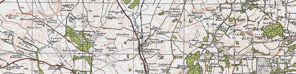Old map of Brunton in 1919