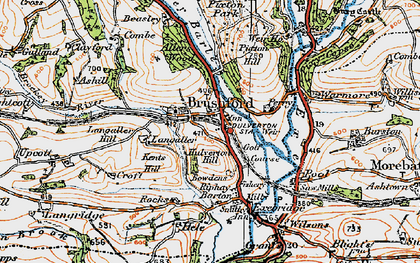 Old map of Allers Wood in 1919