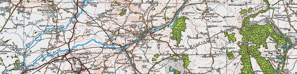 Old map of Whaddon Ho in 1919