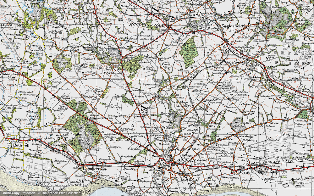Old Map of Historic Map covering Woodcock Air in 1925