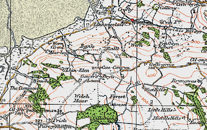 Old map of Tircoch in 1923
