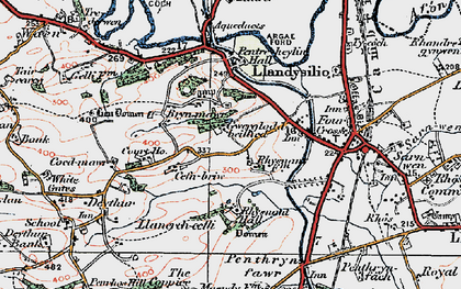 Old map of Bryn Mawr in 1921