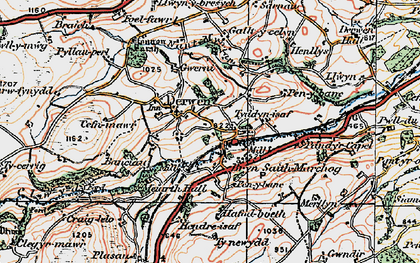 Old map of Allt-y-Celyn in 1922