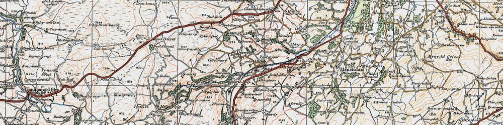 Old map of Allt-y-Celyn in 1922