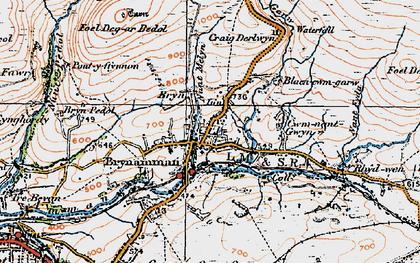 Old map of Brynamman in 1923