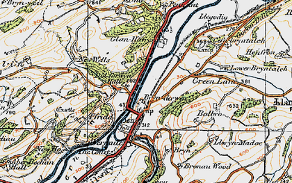 Old map of Brynderwen in 1921