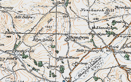 Old map of Bryngwyn in 1919