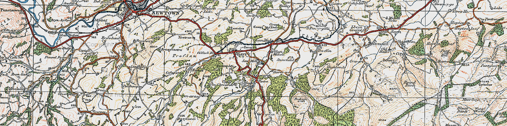 Old map of Brynllywarch in 1920