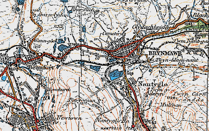 Old map of Brynmawr in 1919