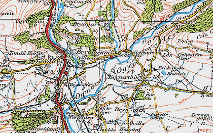 Old map of Brynmenyn in 1922
