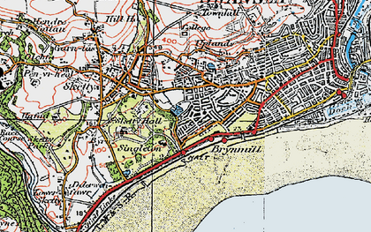 Old map of Brynmill in 1923