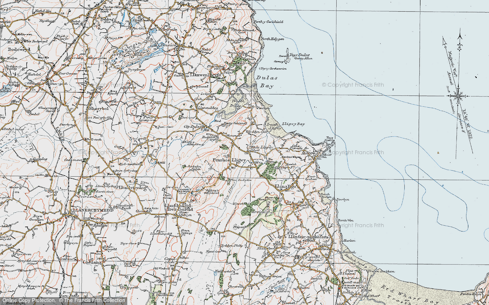 Old Map of Brynrefail, 1922 in 1922