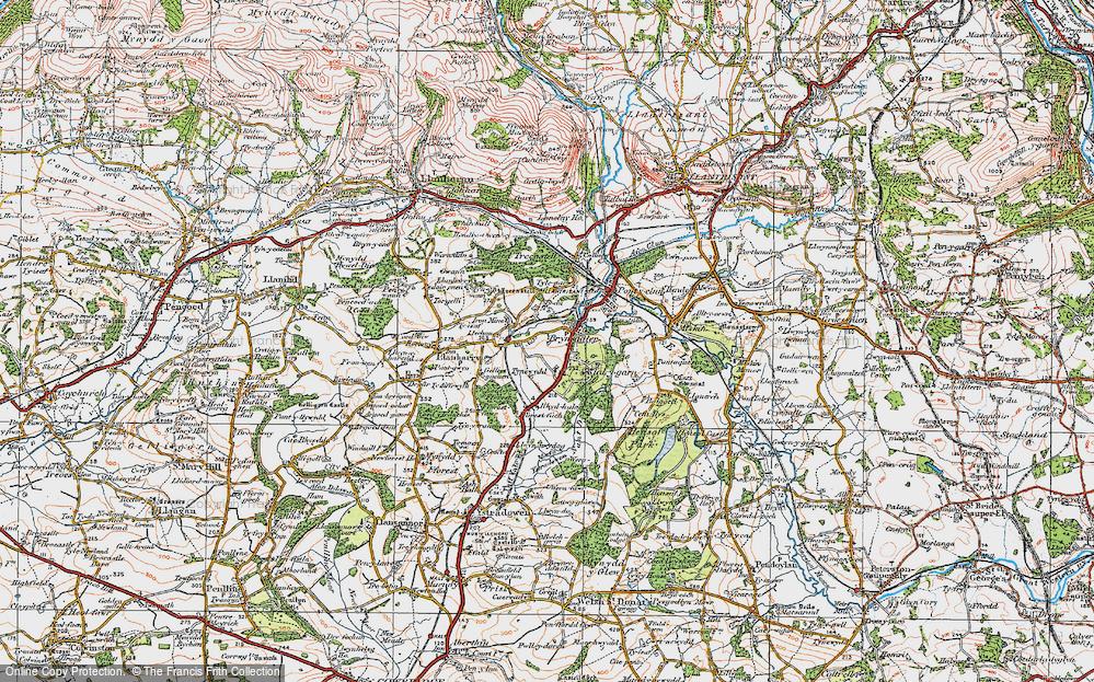 Old Map of Brynsadler, 1922 in 1922
