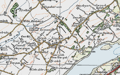Old map of Ysgubor Wen in 1922