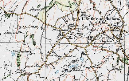 Old map of Brynteg in 1922