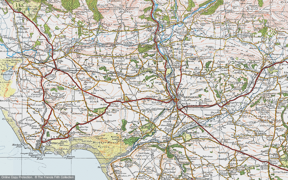 Old Map of Bryntirion, 1922 in 1922