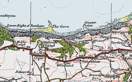 Old map of Buck's Mills in 1919