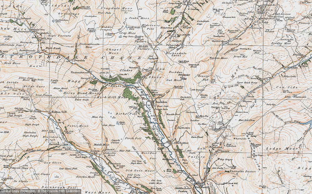 Old Map of Historic Map covering Windle Side in 1925