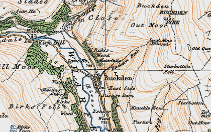 Old map of Buckden in 1925