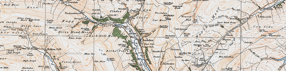 Old map of Windle Side in 1925