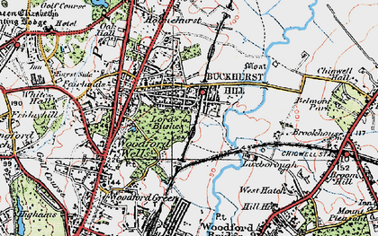 Old map of Buckhurst Hill in 1920