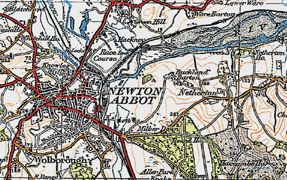 Old map of Buckland in 1919