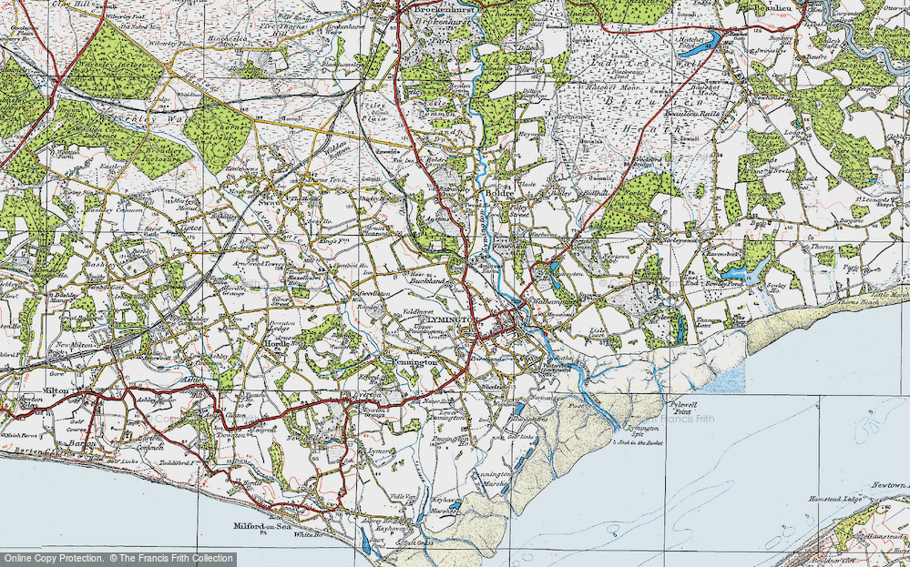 Old Map of Historic Map covering Yaldhurst in 1919