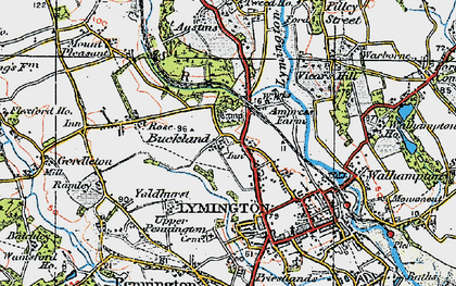 Old map of Yaldhurst in 1919