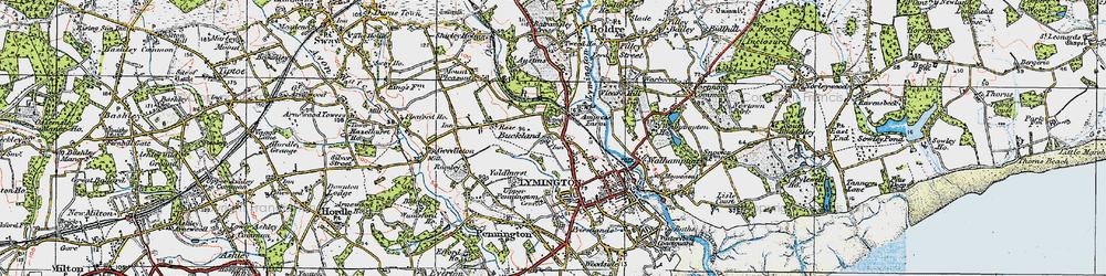 Old map of Yaldhurst in 1919