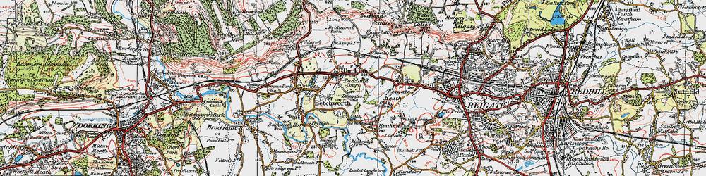 Old map of Wonham Manor in 1920