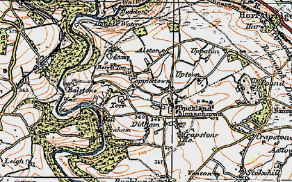 Old map of Balstone in 1919