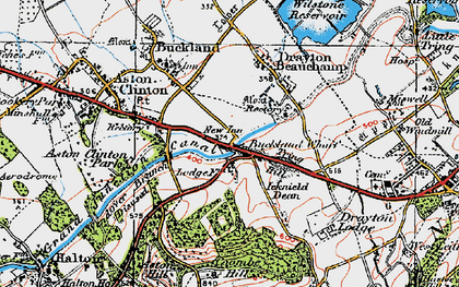 Old map of Bucklandwharf in 1919