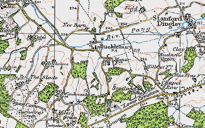 Old map of Bucklebury in 1919