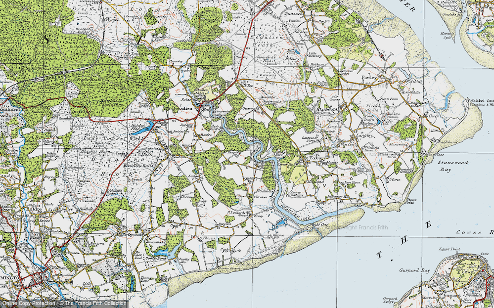 Old Map of Historic Map covering Ashen Wood in 1919