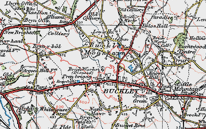Old map of Buckley in 1924