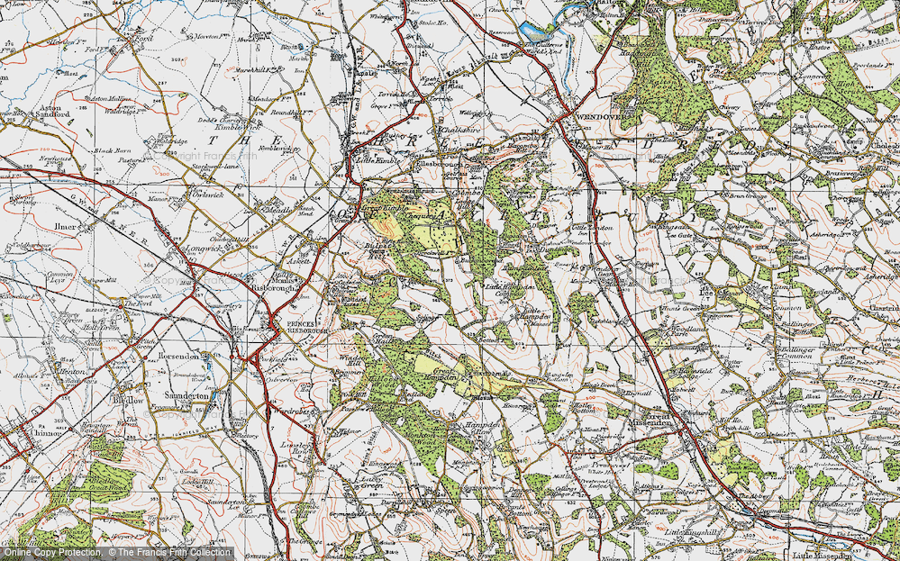 Old Map of Buckmoorend, 1919 in 1919