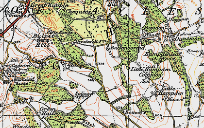 Old map of Buckmoorend in 1919
