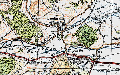 Old map of Lingen Br in 1920